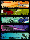 Cars vector composition Stock Photos