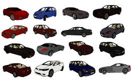 Cars vector composition Royalty Free Stock Image