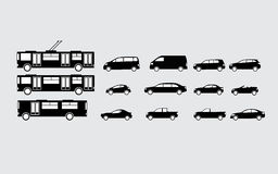 Cars. Vector illustration of different kinds of cars Stock Photography