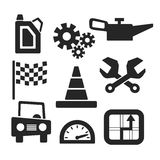 Cars vector web and mobile icons. Vector Stock Image