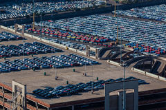 Cars Vehicles Import Export Overlooking stock images