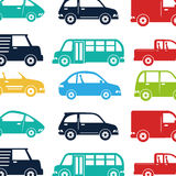 Cars vehicles pattern isolated icon Royalty Free Stock Images