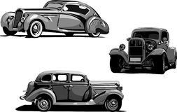 Cars_vintage. Vector illustration of vintage cars Stock Photos