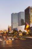 Cars waiting the green light on Las Vegas boulevard Stock Photo