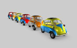 Cars in a waiting line Royalty Free Stock Photo