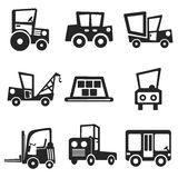 Cars web and mobile icons set. Vector. Stock Photos