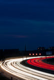 Cars were in the night on a highway Stock Photography