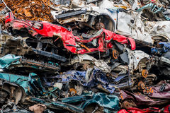 Cars were scrapped Stock Photos