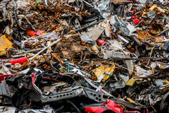 Cars were scrapped Royalty Free Stock Images