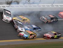 Cars wreck at Daytona Royalty Free Stock Images