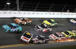 Cars wreck at Daytona Stock Photography