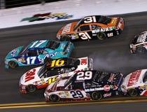 Cars wreck at Daytona Stock Photos