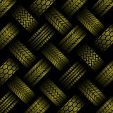 Cars yellow tire tracks background vector illustration
