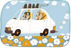 Carsharing lizenzfreie abbildung