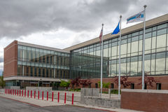 Carson City domstolsbyggnad i Carson City Nevada Fotografering för Bildbyråer