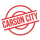 Carson City rubber stamp. Grunge design with dust scratches. Effects can be easily removed for a clean, crisp look. Color is easily changed Stock Photo