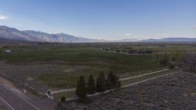 Carson doliny gospodarstwa rolne fotografia stock