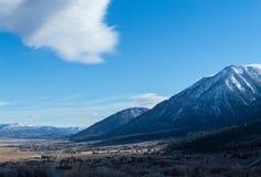 The Carson Range, Western Nevada stock image