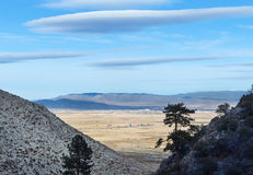 Carson River Valley, Nevada Royalty-vrije Stock Foto's