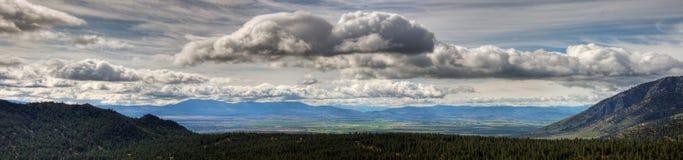 Carson Valley Panorama Royalty-vrije Stock Foto