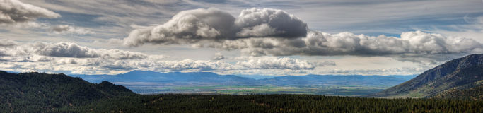 Carson Valley Panorama Royalty Free Stock Photo