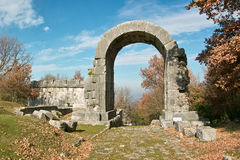 Carsulae, arch of san damiano stock photo