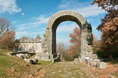 Carsulae, boog van San Damiano Stock Foto