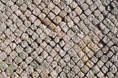 Carsulae, wall in opus reticulatum. Carsulae archaeological site, especially a wall of the theater built by the technique work, cross-linked (opus reticulatum) stock image