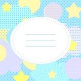 Cartão à moda com estrelas, às bolinhas e cloudlets ilustração do vetor