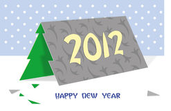 Cartão - árvore de Natal Fotografia de Stock