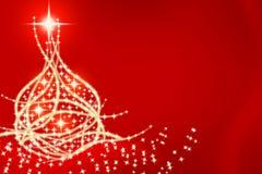 Cartão 2 da árvore de Natal Fotografia de Stock