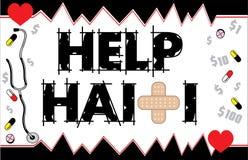 Cartão 2 de Haiti da ajuda Imagem de Stock Royalty Free