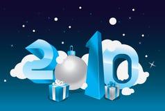 cartão 2010 Ilustração Stock
