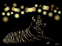 Cartão 2010 chinês do ouro do ano novo Imagem de Stock