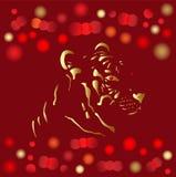Cartão 2010 chinês do ouro do ano novo Fotografia de Stock Royalty Free