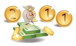cartão 2011 do dinheiro ilustração stock