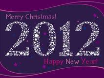 Cartão 2012 Fotografia de Stock Royalty Free