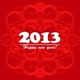 Cartão 2013 do ano novo Fotografia de Stock