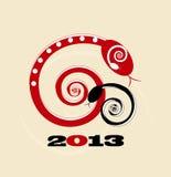 Cartão 2013 do ano novo da serpente Fotografia de Stock Royalty Free