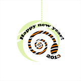 Cartão 2013 do ano novo da serpente Fotografia de Stock