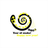 Cartão 2013 do ano novo da serpente Imagens de Stock
