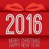 Cartão 2016 Fotografia de Stock Royalty Free
