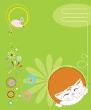 Cartão ilustração stock