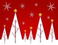 Cartão abstrato 2 da árvore de Natal branco ilustração stock