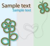 Cartão abstrato Imagem de Stock