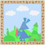 Cartão abstrato com coelho Fotos de Stock Royalty Free