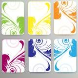 Cartão abstrato com fundo floral Fotos de Stock Royalty Free