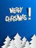 Cartão abstrato criativo do Feliz Natal ilustração do vetor