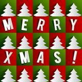 Cartão abstrato criativo do Feliz Natal ilustração stock