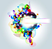Cartão abstrato do arco-íris da alta tecnologia Imagem de Stock Royalty Free